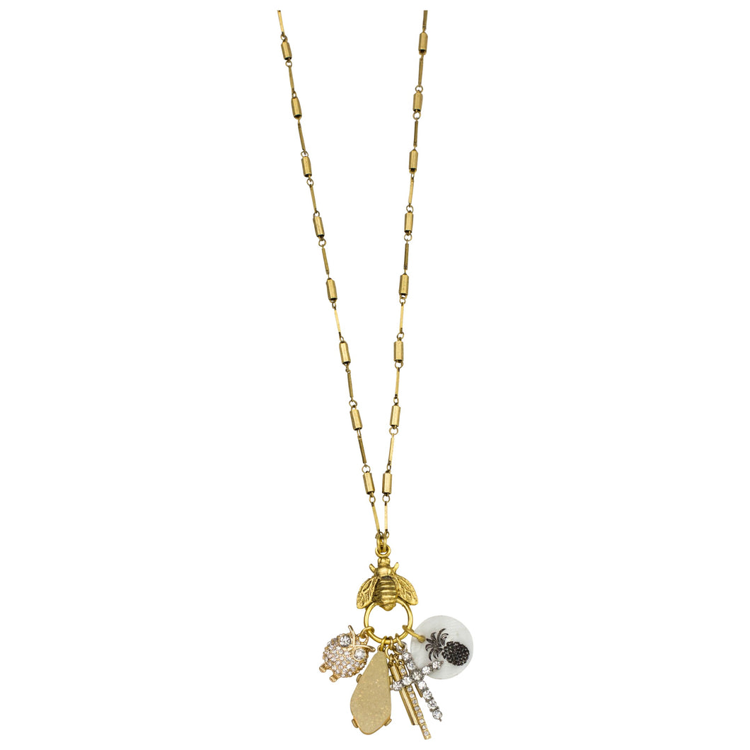 "The Welcoming Bee 36"" charm necklace"