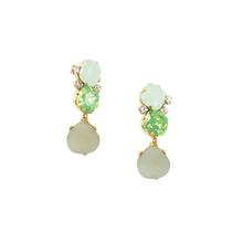 Green Collage Drop Earrings *use code TAGSALE & receive 30% off!*