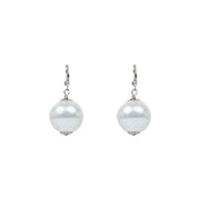 Cotton Pearl Earrings, 20mm