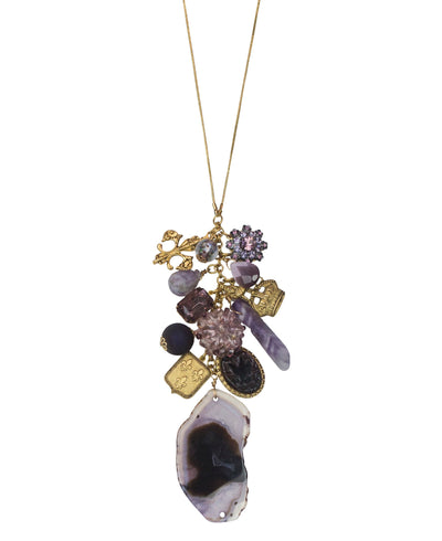 "32"" Limited Edition Ultra Violet Cluster Necklace"