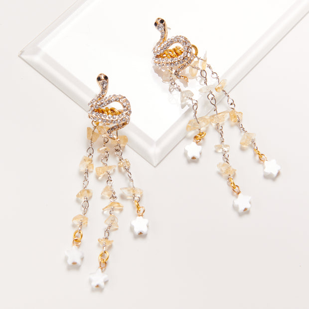 Limited Edition The Garden Snake Fringe Earring