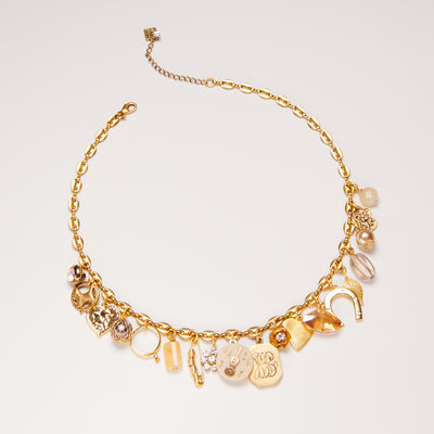 Limited Edition Vintage Golden Charm Necklace