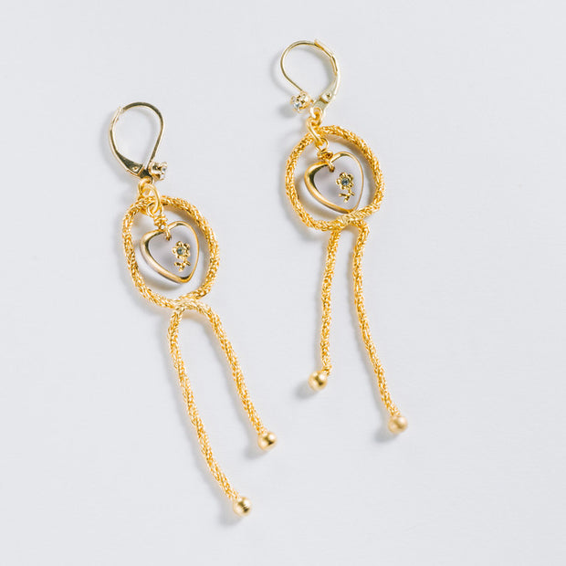 Love Knot Earrings, Gold