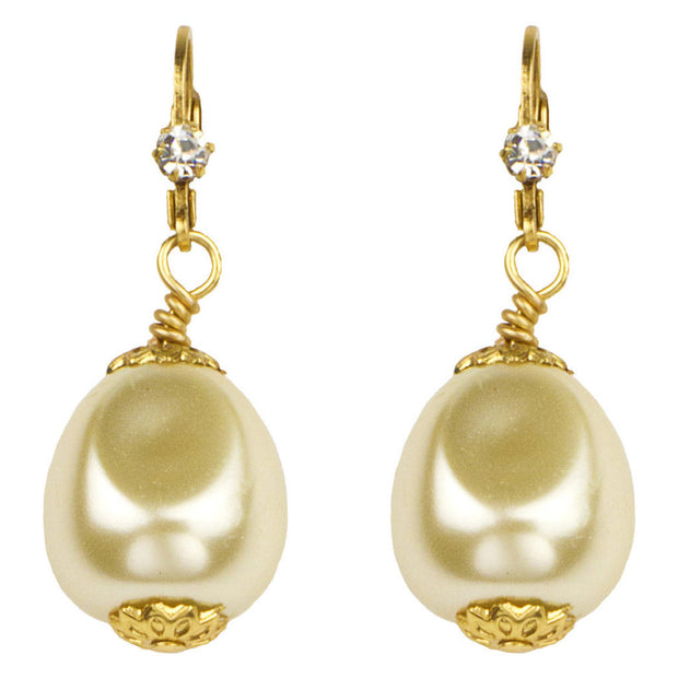 "1 1/2"" Baroque Pearl Drop Earrings - John Wind Modern Vintage Jewelry - 1"