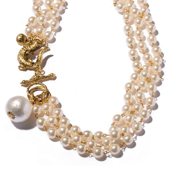 Gator & Pearl Collar Necklace