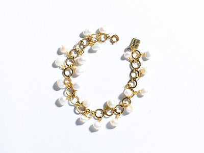 Endless Pearls Bracelet, Gold or Silver
