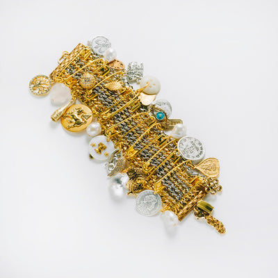 """Punk It Up!"" Statement Bracelet, Two-Tone"
