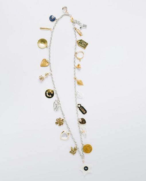 """Charms By The Yard"" Convertible Bracelet & Necklace, Two-Tone"
