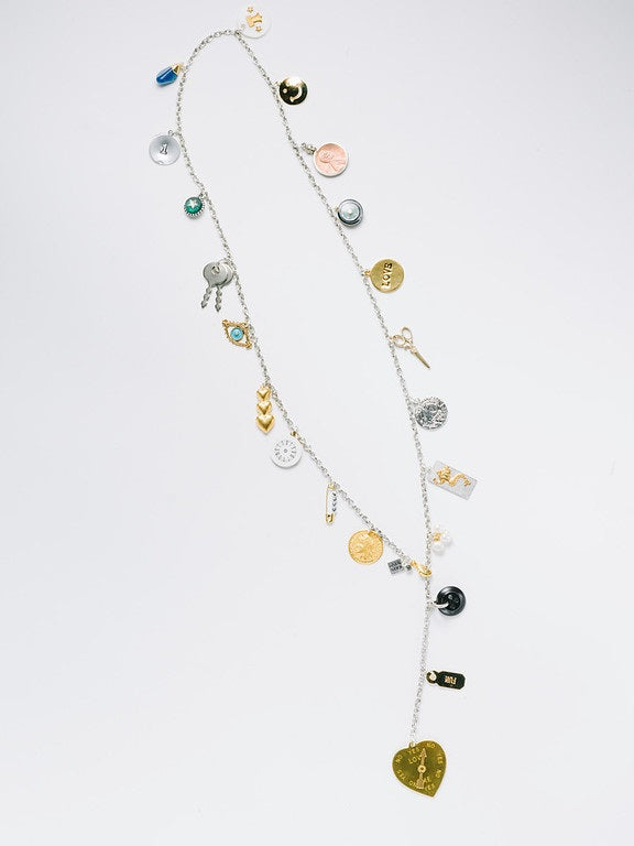"""Charms By The Yard"" Lariat, Two-Tone"