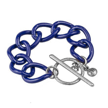 Navy Enamel Toggle Bracelet