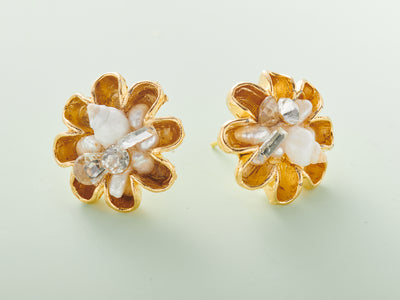 Ocean Flower Post Earring