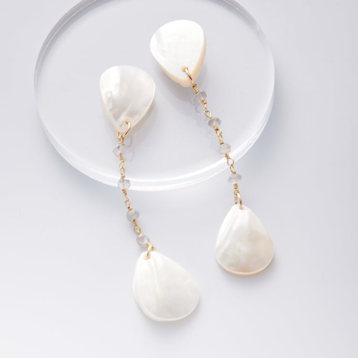 Shell Tear Drop Earrings