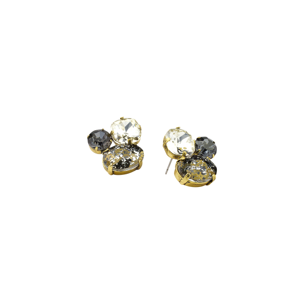 Greige Cluster Cocktail Earring