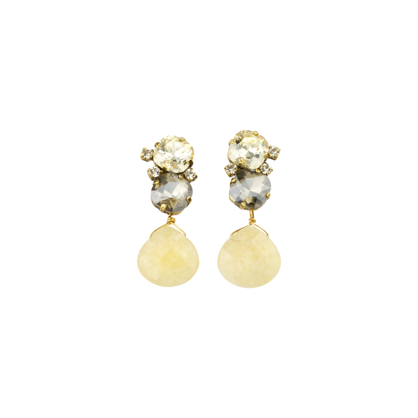 "1.5"" Yellow Luxe Drop Earring - John Wind Modern Vintage Jewelry"