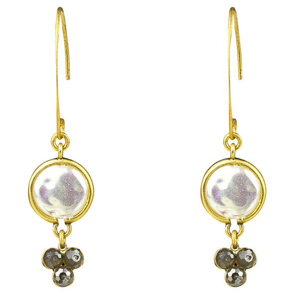 Mother of Pearl Hammer Drop Earring