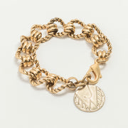 Roadster Vintage Chain Bracelet, Gold or Silver