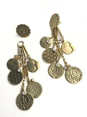 Convertible Medallion Earring, Gold or Silver