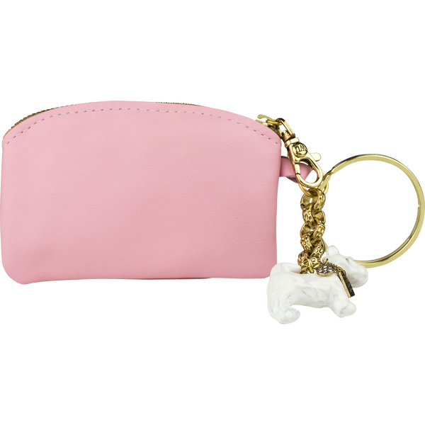 Scottie Charm Coin Purse, Pink