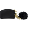 #GLAM Pom Pom Coin Purse, Black