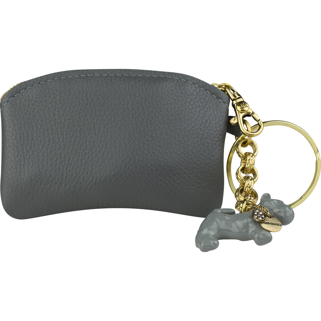 Scottie Charm Coin Purse, Grey