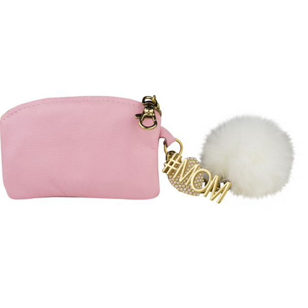 #MOM Pom Pom Coin Purse, Pink