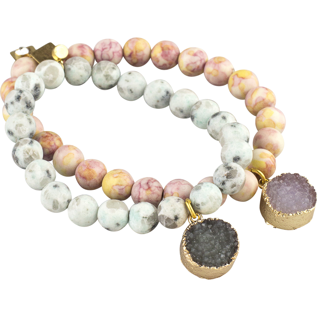 Set 2, Druzy Arm Candy Bracelets, M2