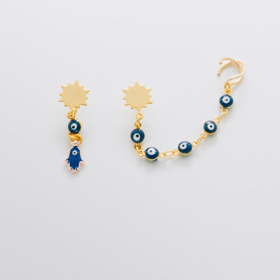 Evil Eye Ear Cuff Set