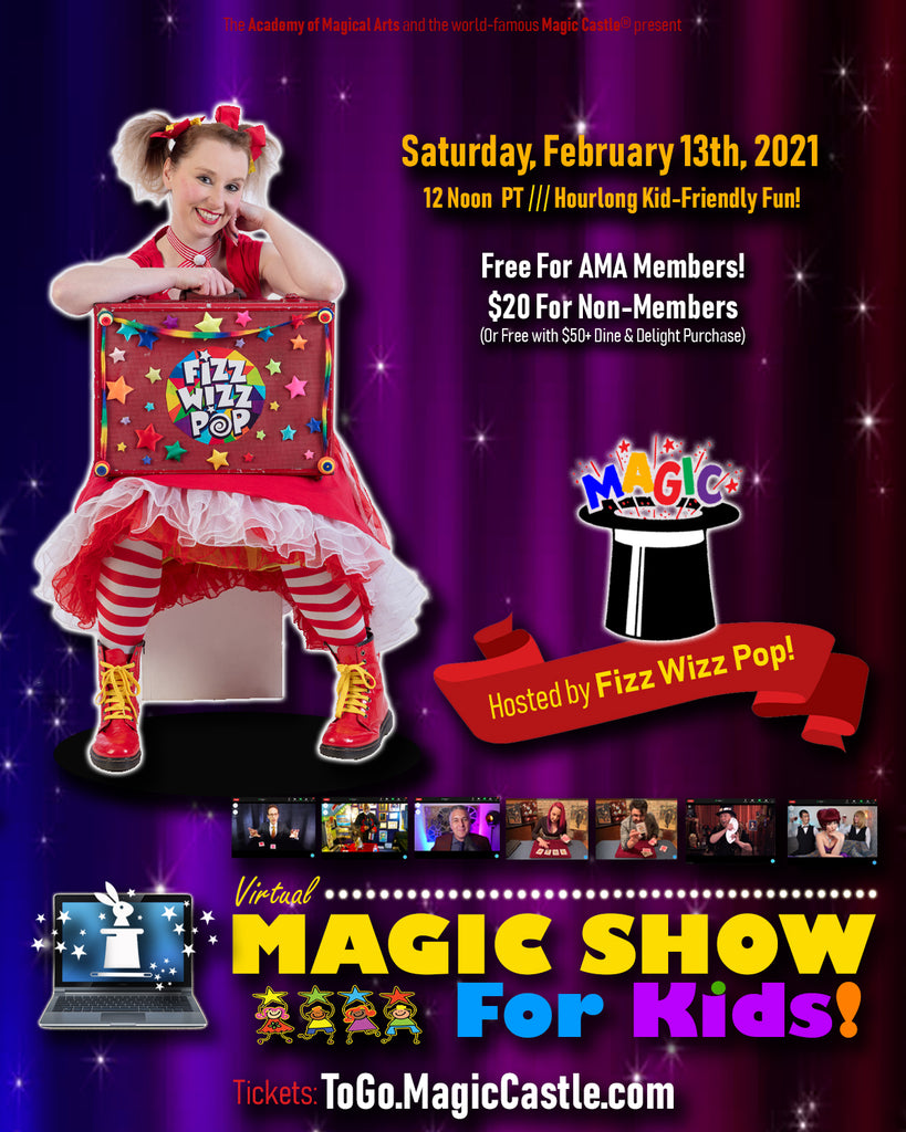 02/13/21 Virtual Magic Show for Kids!