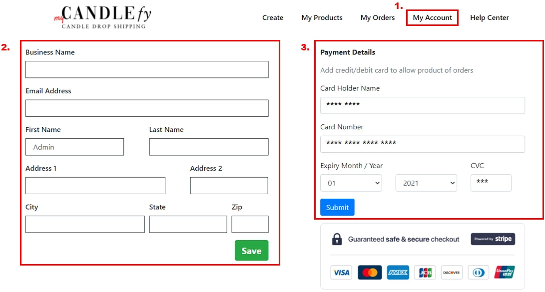 Candlefy Candle Drop Shipping Payment