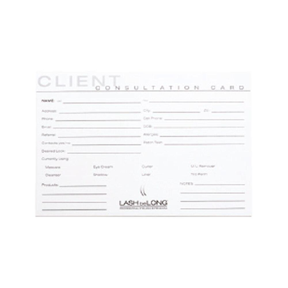 LASH beLONG Client Consultation Cards