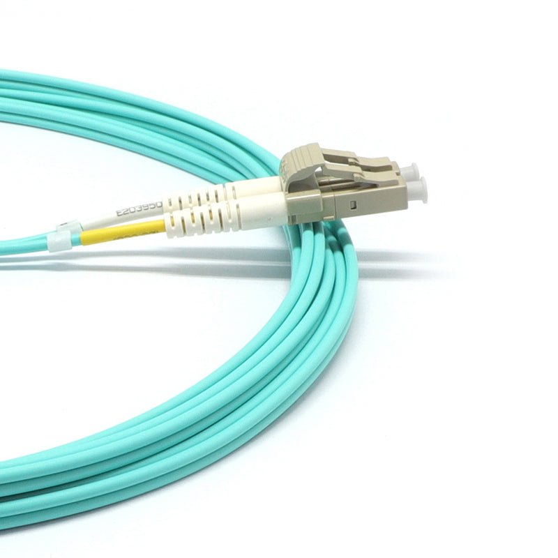 LC UPC to LC UPC Duplex OM4 Multimode LSZH Fiber Optic Patch Cable