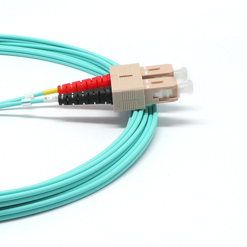 SC UPC to LC UPC Duplex OM4 Multimode LSZH Fiber Optic Patch Cable