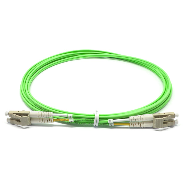 LC UPC to LC UPC Duplex OM5 Multimode LSZH Fiber Optic Patch Cable