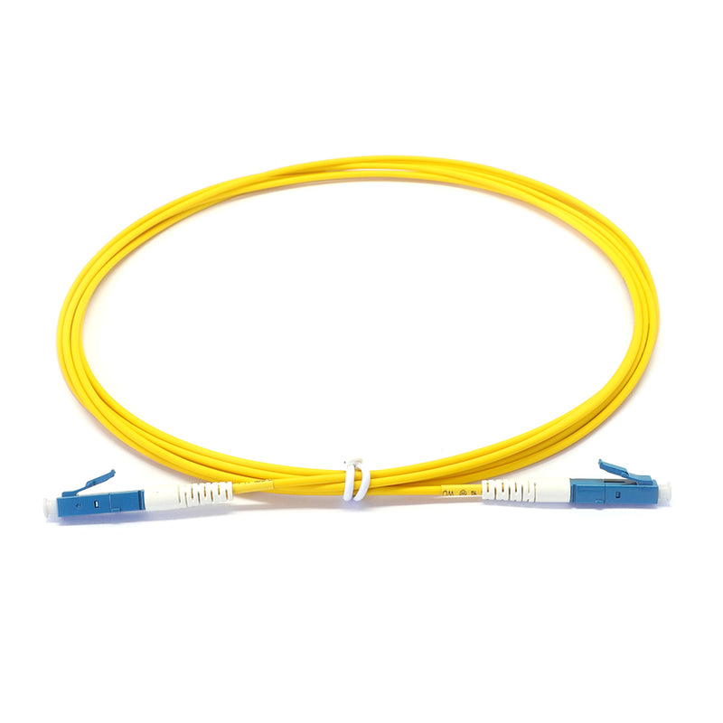 LC UPC to LC UPC Simplex OS2 Singlemode LSZH Fiber Optic Patch Cable
