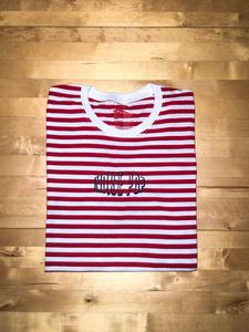 NP+Faze Red Striped Embroidered Logo Tee