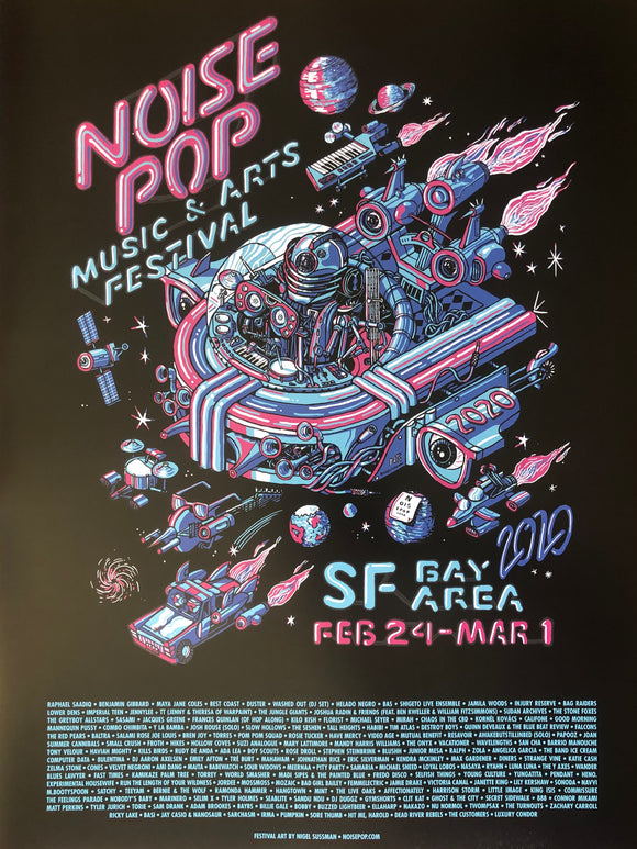 Noise Pop Festival 2020 Poster by Nigel Sussman