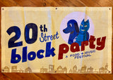 20th Street Block Party Mesh Banner