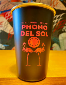 Phono del Sol Stainless Steel Pint Glass