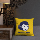 Noise Pop Girl Pillow