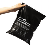 Load image into Gallery viewer, BLACK COMPOSTABLE SATCHELS: Courier Bags, Mailing Satchels
