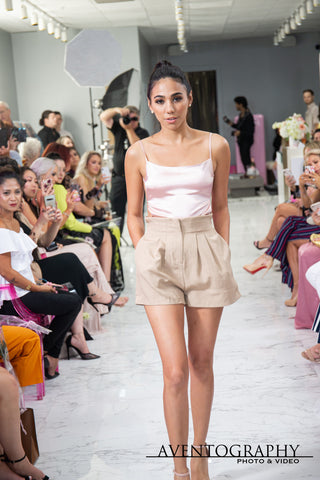 Model: Roxany Teran runway walk at Miss Robinson Fashion House Grand Opening