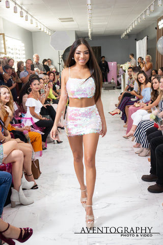 Model: Ashley Campos Runway walk at Miss Robinson Fashion House grand opening
