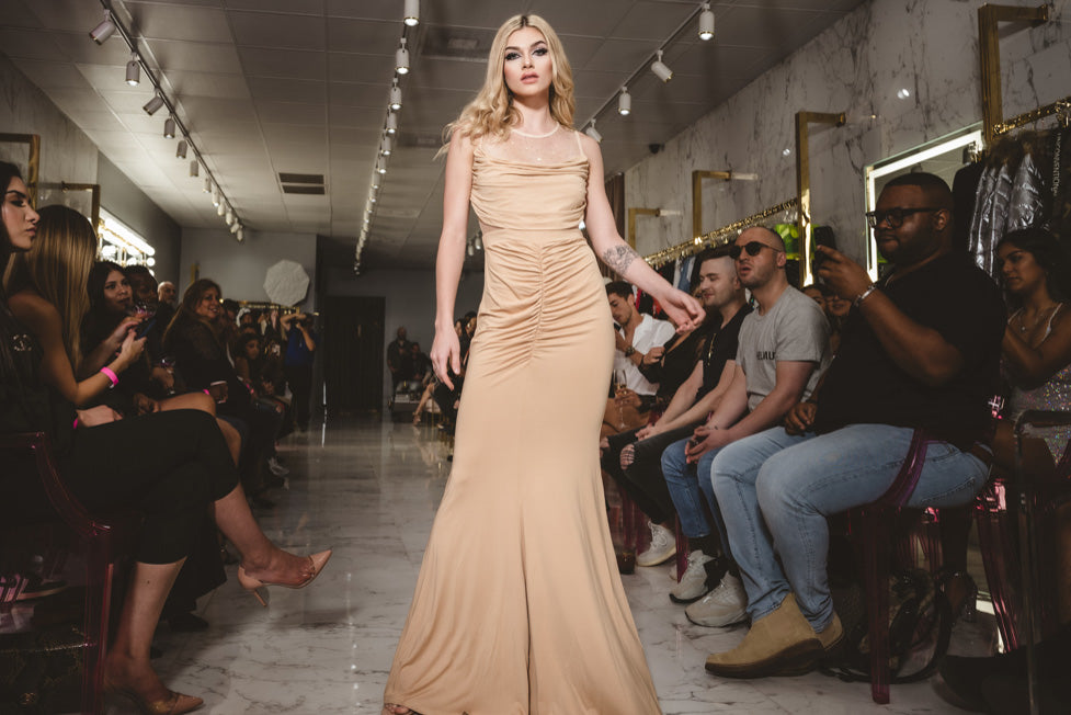 Nude Sheer Back Dress