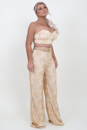Gold Lace Set Top