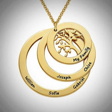 Load image into Gallery viewer, Gold Plated Family Tree Necklace