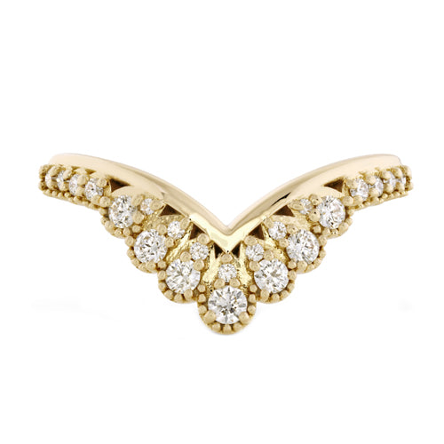 Hearts On Fire Behati Silhouette Diamond Right Hand Band