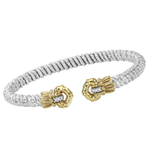 Vahan Gold & Sterling Silver Bangle