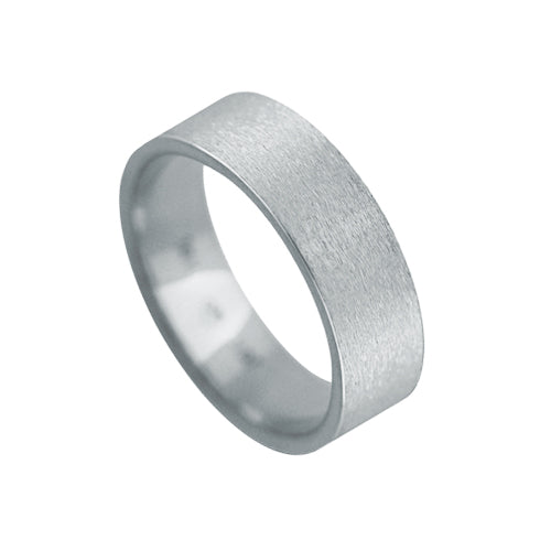 Mens Custom Classic Frost Finish Wedding Band Ring