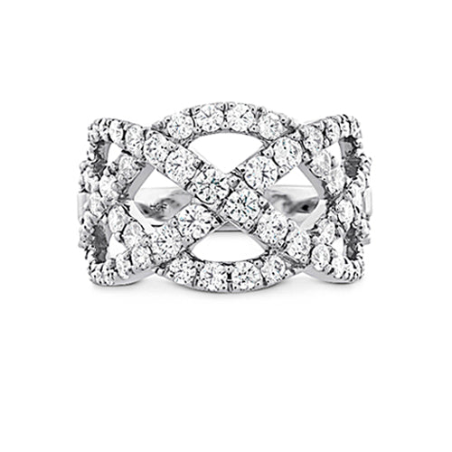 Hearts On Fire Intertwining Right Hand Ring