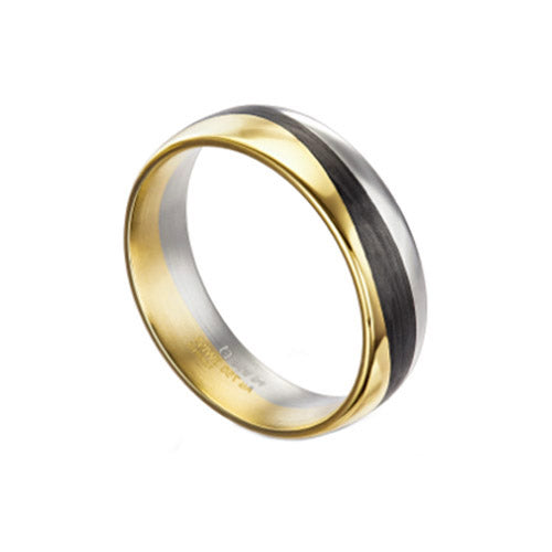 Furrer Jacot Modern Carbon Mens Wedding Band Ring